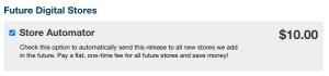 Store Automator untuk menambahkan lagu ke platform digital baru di masa depan