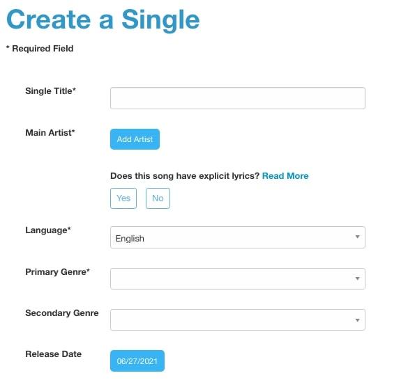 From detail informasi lagu untuk diupload ke Spotify