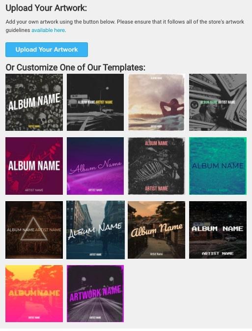 Upload artwork lagu untuk Spotify