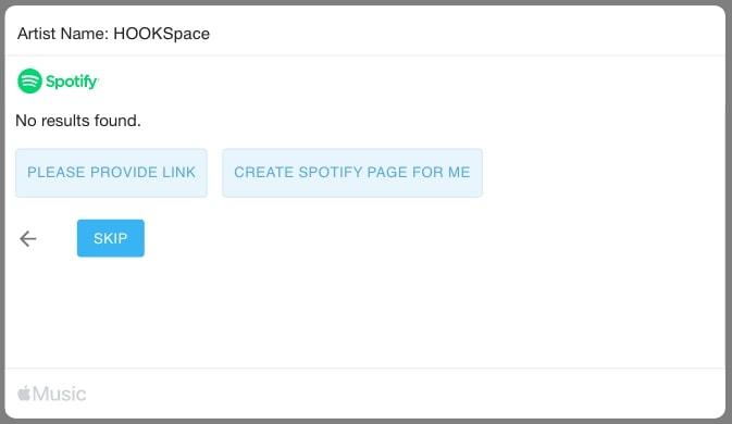 Pembuatan halaman Spotify untuk band baru