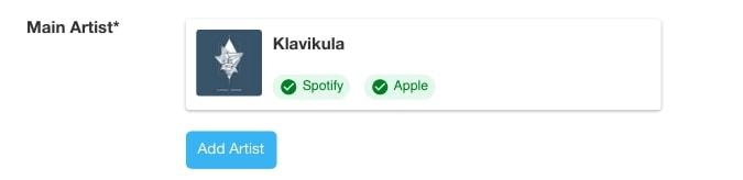 Konfirmasi laman artis lama di Spotify