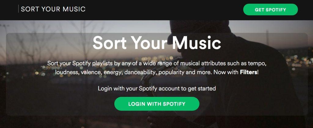 Sort Your Music, situs database tempo lagu yang menggunakan API Spotify