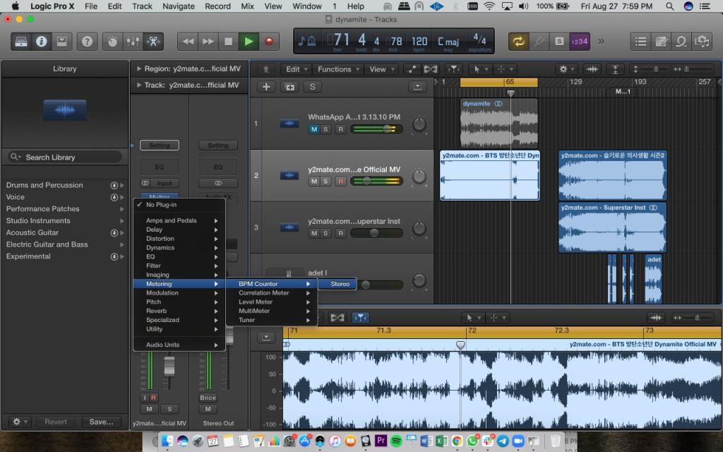 Cara mendeteksi tempo lagu menggunakan DAW Logic Pro