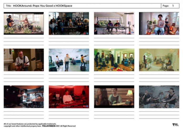 Moodboard produksi video HOOKAround