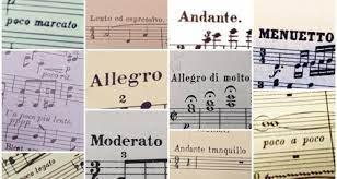 Jenis tempo lagu berdasarkan terminologi Italia